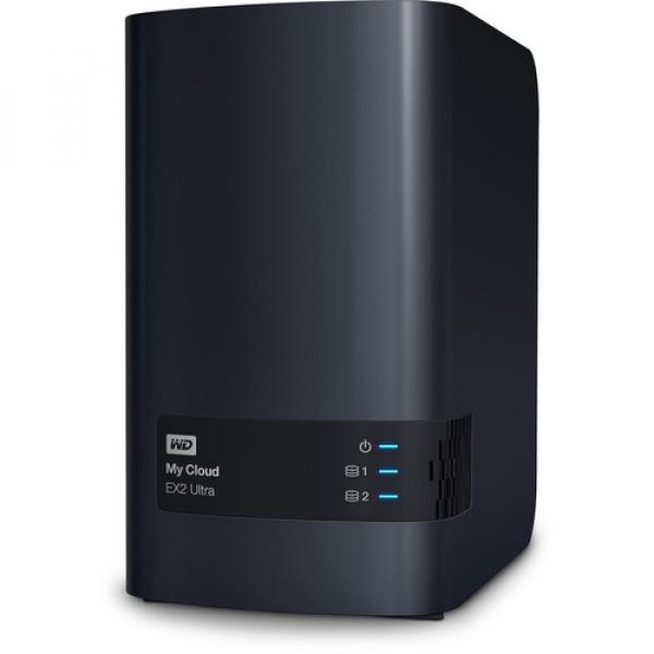 Western Digital 4TB My Cloud EX2 Ultra 2-Bay Network Storage (WDBVBZ0040JCH-SESN)