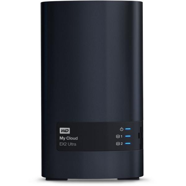 Western Digital 8TB My Cloud EX2 Ultra 2-Bay Network Storage (WDBVBZ0080JCH-SESN)