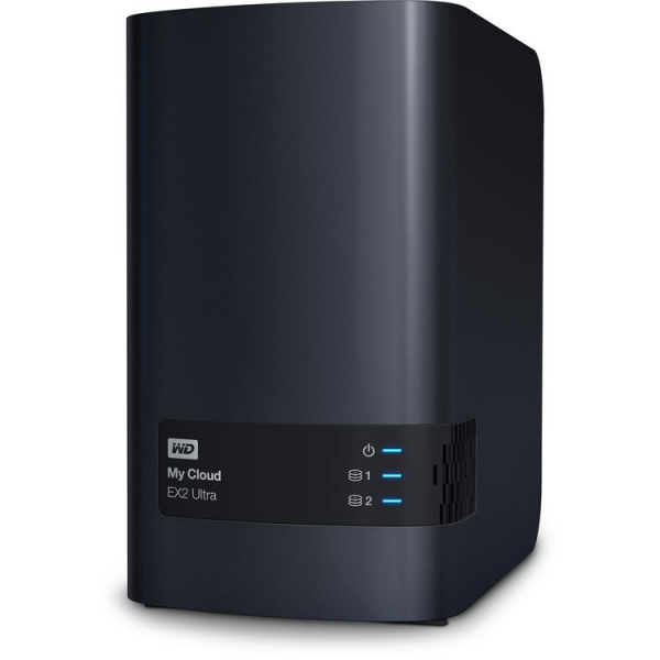 Western Digital 8TB My Cloud EX2 Ultra 2-Bay Network Storage (WDBVBZ0080JCH-SESN)