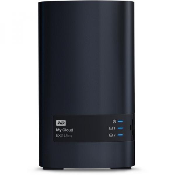 Western Digital 12TB My Cloud EX2 Ultra 2-Bay Network Storage (WDBVBZ0120JCH-SESN)