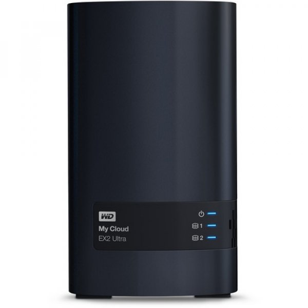 Western Digital 16TB My Cloud EX2 Ultra 2-Bay Network Storage (WDBVBZ0160JCH-SESN)