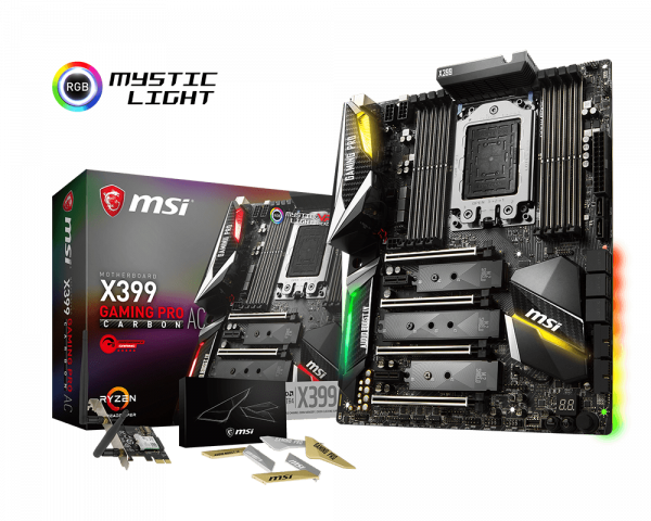 MSI X399 Gaming Pro Carbon TR4 Amd Motherboard (X399 Gaming Pro Carbon AC)