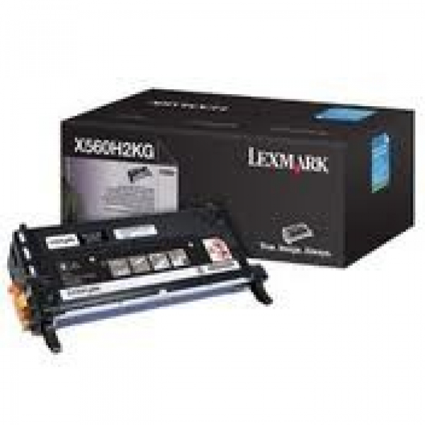 LEXMARK Black Toner Yield 10000 Pages For X560H2KG