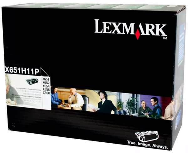 LEXMARK Black Prebate Toner Yield 25000 Pages X651H11P