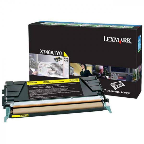 LEXMARK Toner Cartridge Yellow 7k Return Program X746A1YG