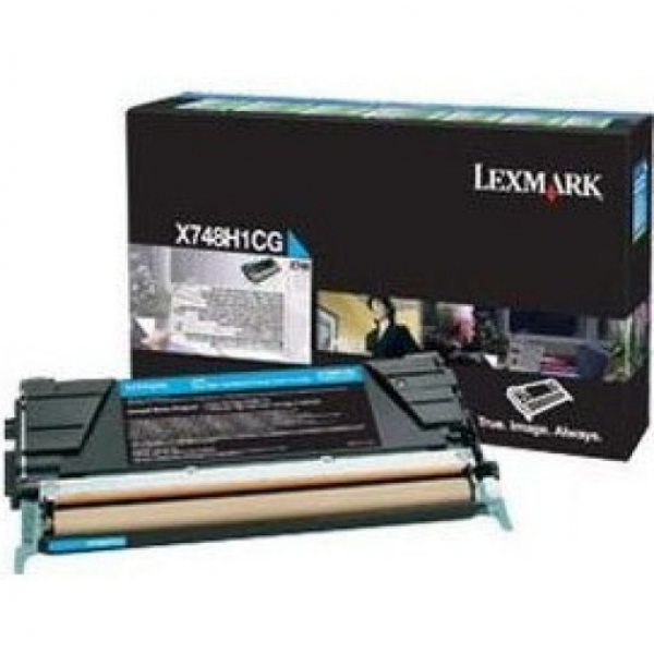 LEXMARK Toner Cartridge Cyan 10k Return Program X748H1CG