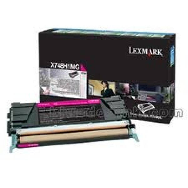 LEXMARK X748 Magenta High Yield 10k Toner X748H1MG