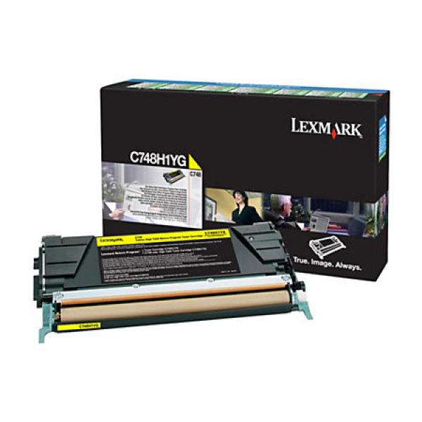 LEXMARK Toner Cartridge Yellow 10k Return X748H1YG