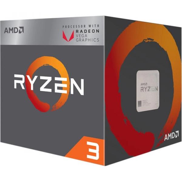 AMD Ryzen 3 2200g 4/4 65w Am4 Cpu 3700mhz 6mb YD2200C5FBBOX
