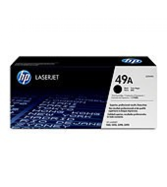Hewlett Packard Hp 49a Black Toner 2500 Page Yield For Lj 1160 1320 3390 (Q5949A)