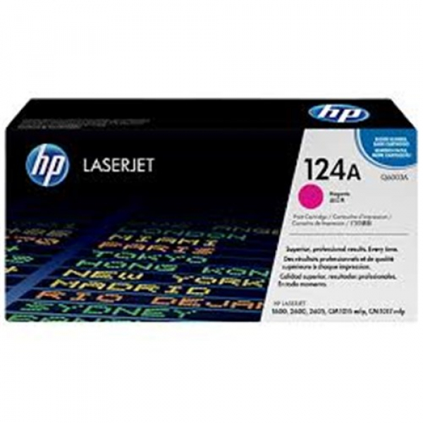 Hewlett Packard Hp 124a Magenta Toner 2000 Page Yield For Clj 1600 2600 2605 (Q6003A)