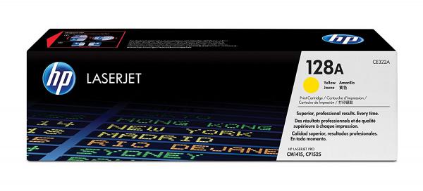 Hewlett Packard Hp 128a Yellow Toner 1.3k For Clj Pro Cp1525 Cm1415 (CE322A)