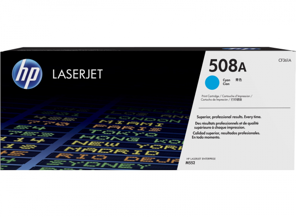 Hewlett Packard Hp 508a Cyan Laserjet Toner Cartridge (CF361A)