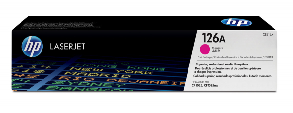 Hewlett Packard Hp 126a Magenta Toner 1000 Page Yield For Lj Pro Cp1020 (CE313A)