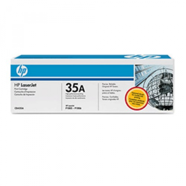 Hewlett Packard Hp 35a Black Toner 1500 Page Yield For Lj P1005 & P1006 (CB435A)