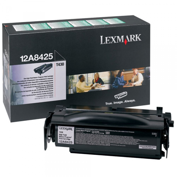 Lexmark Black Toner (return Program) Yield 12000 Pages For T430 (12A8425)
