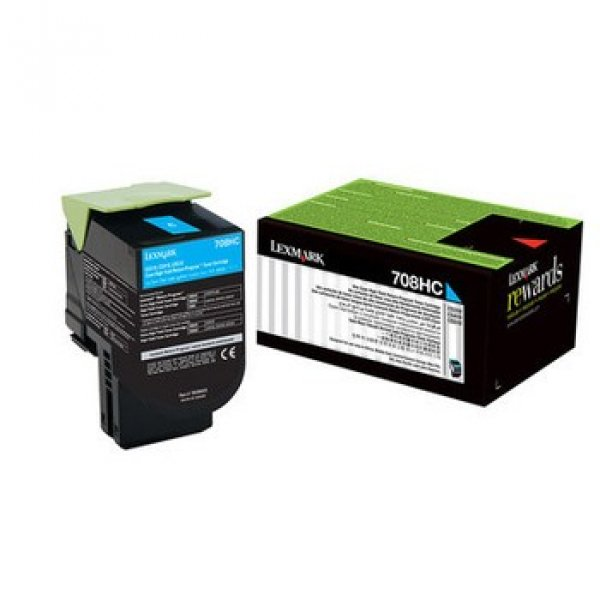 Lexmark 808xce Cyan Extra High Yield Corporate Toner Cartridge 4k Cx510 (80C8XCE)