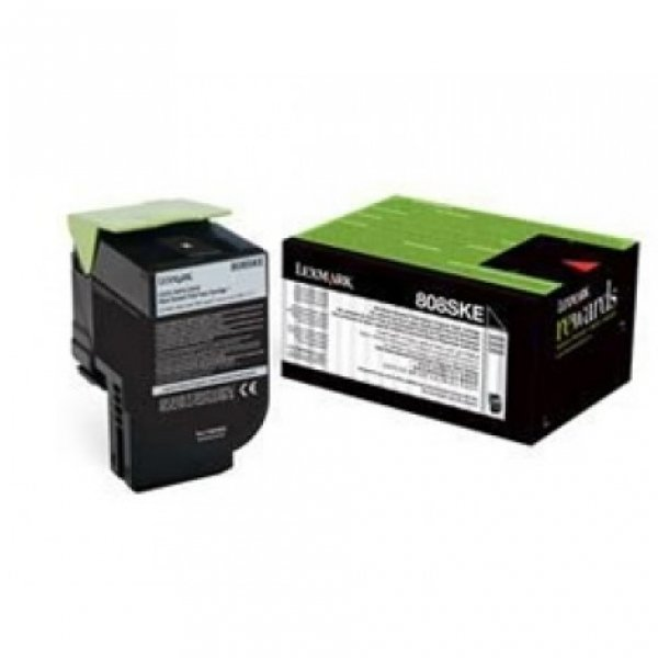 Lexmark 808ske Black Stanadrd Yield Toner Cartridge Corporate Tone Cartridge 2.5k Cx310/ (80C8SKE)