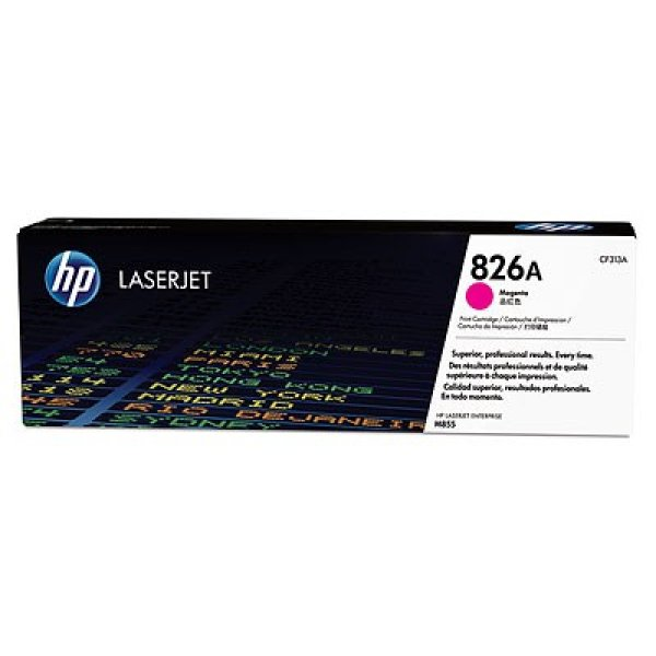 Hewlett Packard Hp826a Magenta Lj Toner Cart Cartridge For M855dn/m855x+ /m855xh-31.5k Yield (CF313A)