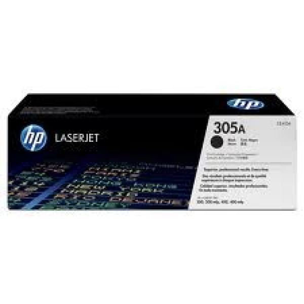 Hewlett Packard Hp 305a Black Toner 2200 Page Yield For M451 M375 M475 (CE410A)
