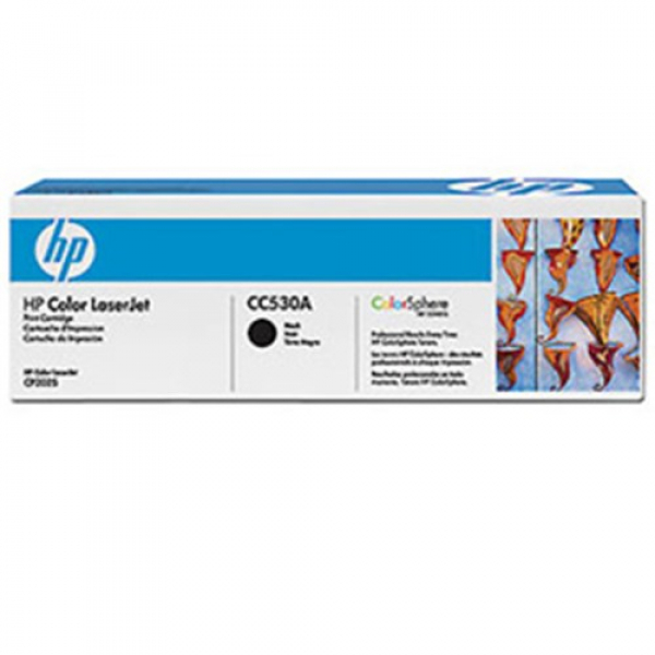 Hewlett Packard Hp Black Toner 3500 Page Yield For Clj Cp2025 Cm2320mfp (CC530A)