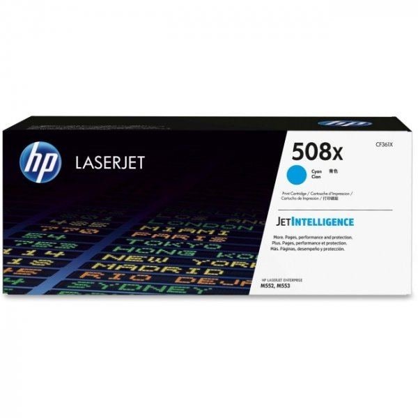 Hewlett Packard Hp 508x Cyan Laserjet Toner Cartridge (CF361X)