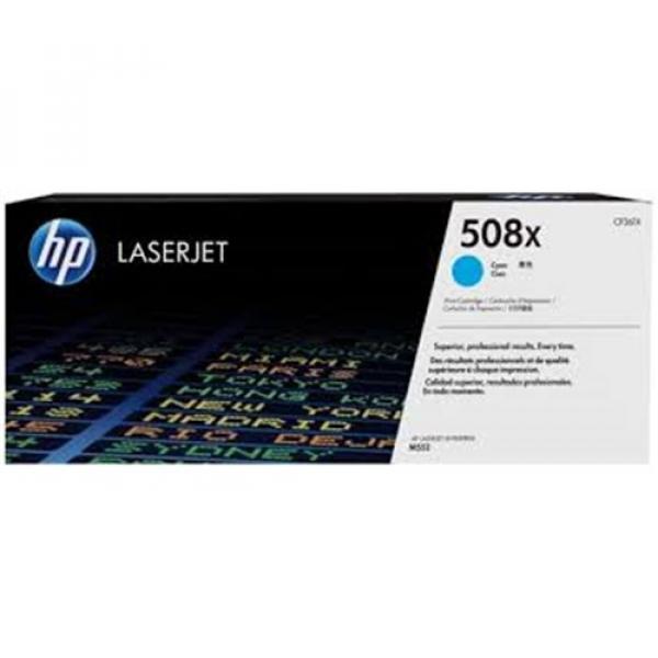 Hewlett Packard Hp 508x Cyan Laserjet Toner Cartridge (CF361X)