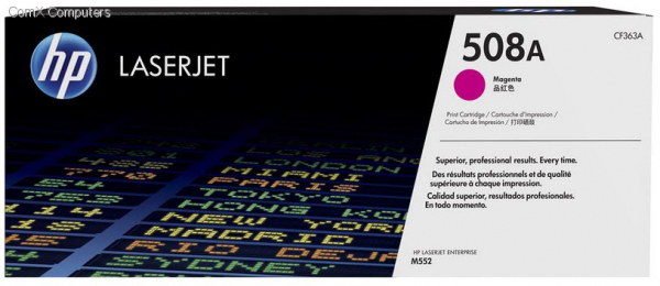 Hewlett Packard Hp 508a Magenta Laserjet Toner Cartridge (CF363A)