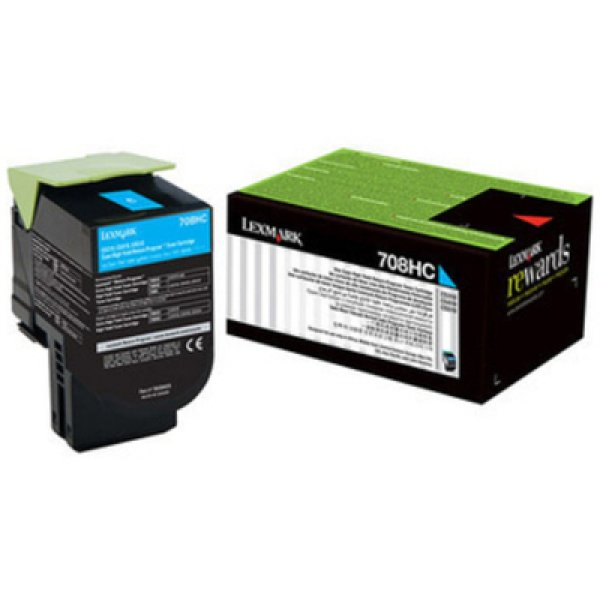 Lexmark 708xce Cyan Extra High Yield Corporate Toner Cartridge 4k Cs510 (70C8XCE)