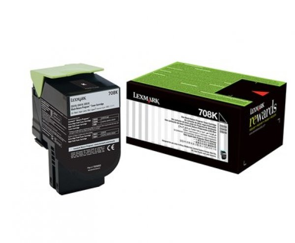 Lexmark 708k Black Return Toner Cartridge 1k Cs310/cs410/cs510 (70C80K0)