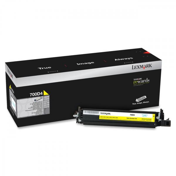 Lexmark 700d4 Yellow Developer 40k Cs/cx 310/410/510 (70C0D40)