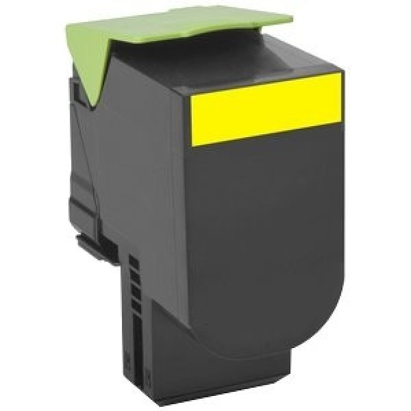 Lexmark 708y Yellow Return Toner Cartridge 1k Cs310/cs410/cs510 (70C80Y0)