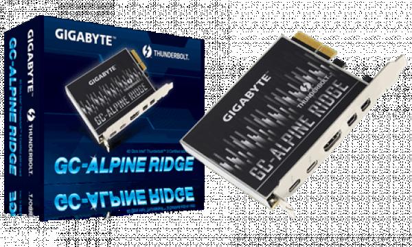 Gigabyte Alpine Ridge V2 Dual Thunderbolt  3 Card For H270 Z270 Z370 X299 Series 3 Ports Motherboard (GC-ALPINE-RIDGE V2)