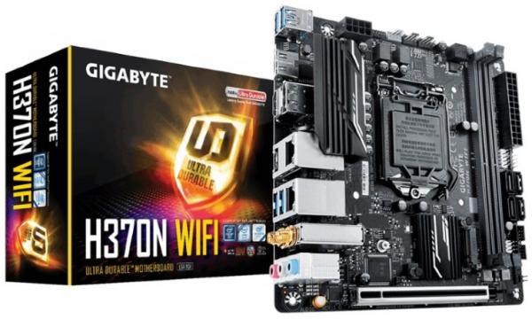 Gigabyte H370n Wifi Lga1151 9gen Mini Itx Mb 2xddr4 1xpcie Hdmi Dp 2xm.2 4xsata3 Raid 2xi (GA-H370N-WIFI)