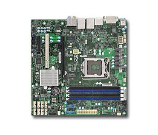Supermicro X11SAE Matx E3-1200V5/V6 Gen6/7 I7/i5/i3 4x DDR4 Ecc M.2 Sata Raid 2x Gbe C236 D (X11SAE-M)
