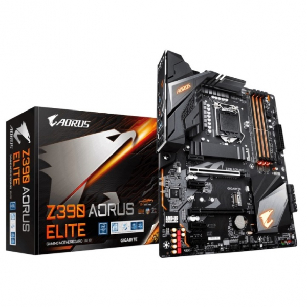 Gigabyte Z390 Aorus Elite LGA1151 9Gen Atx Motherboard 4xDDR4 6xPcie HDmi 2xM.2 6 x Sata Raid Intel (GA-Z390-AORUS-ELITE)