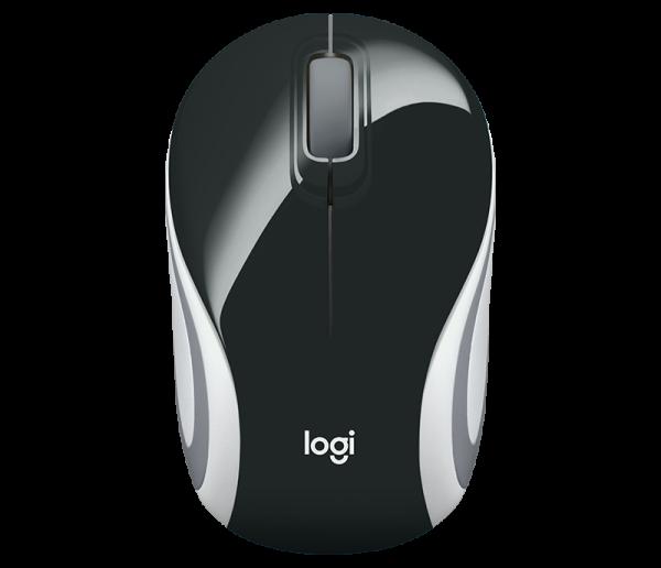 Logitech Wireless Mini Mouse M187 - Black (910-005371)