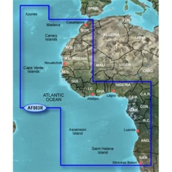GARMIN MicroSD/SD Card: HXAF003R - Western Africa (010-C0749-20)