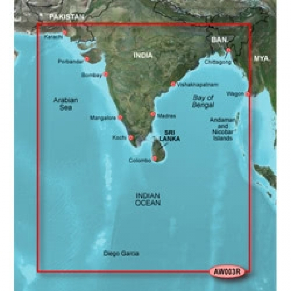 GARMIN MicroSD/SD Card: HXAW003R - Indian Subcontinent (010-C0755-20)