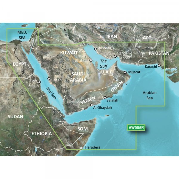 GARMIN MicroSD/SD Card: HXAW005R - The Gulf And Red Sea (010-C0924-20)