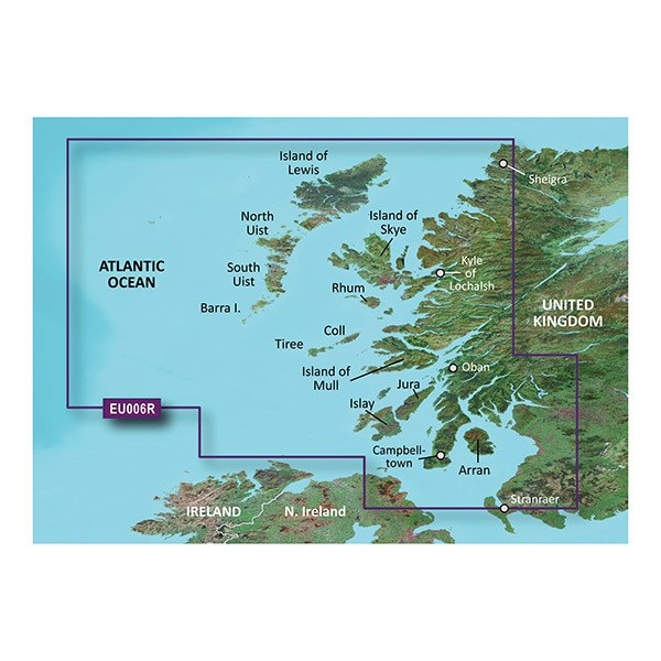 GARMIN MicroSD/SD Card: HXEU006R - Scotland West Coast (010-C0765-20)
