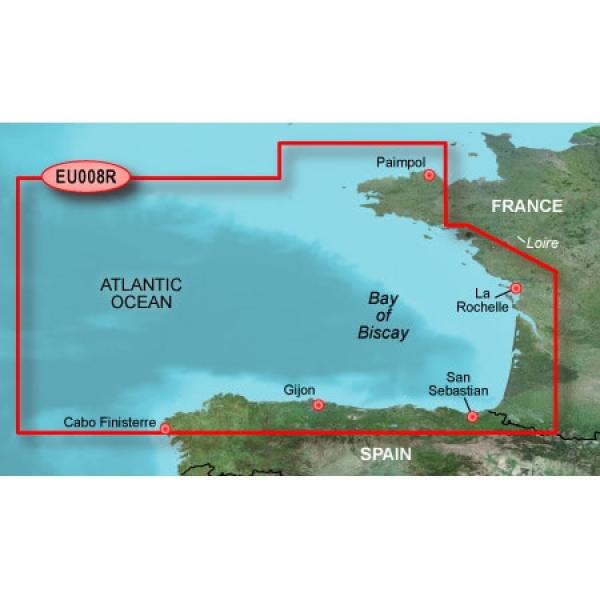 GARMIN MicroSD/SD Card: HXEU008R - Bay Of Biscay (010-C0766-20)