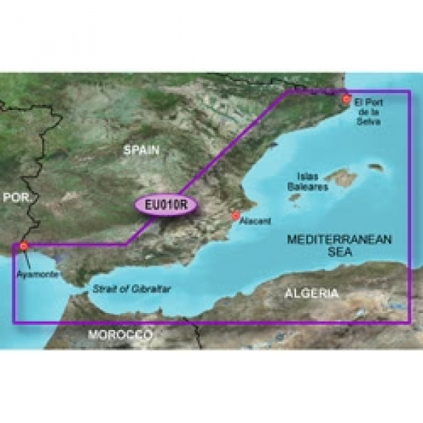 GARMIN MicroSD/SD Card: HXEU010R - Spain Mediterranean Coast (010-C0768-20)