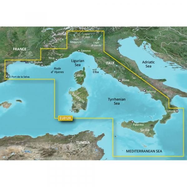 GARMIN MicroSD/SD Card: HXEU012R - Mediterranean Sea Central-West (010-C0770-20)