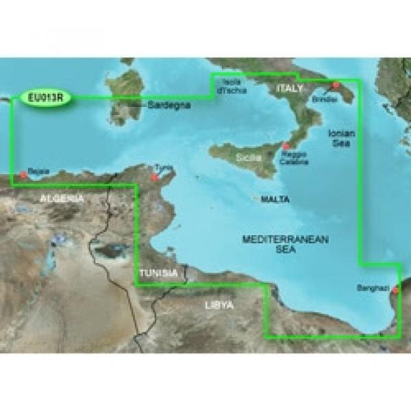 GARMIN MicroSD/SD Card: HXEU013R - Italy Southwest & Tunisia (010-C0771-20)