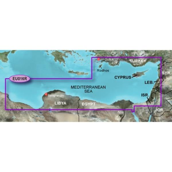 GARMIN MicroSD/SD Card: HXEU016R - Mediterranean Southeast (010-C0774-20)