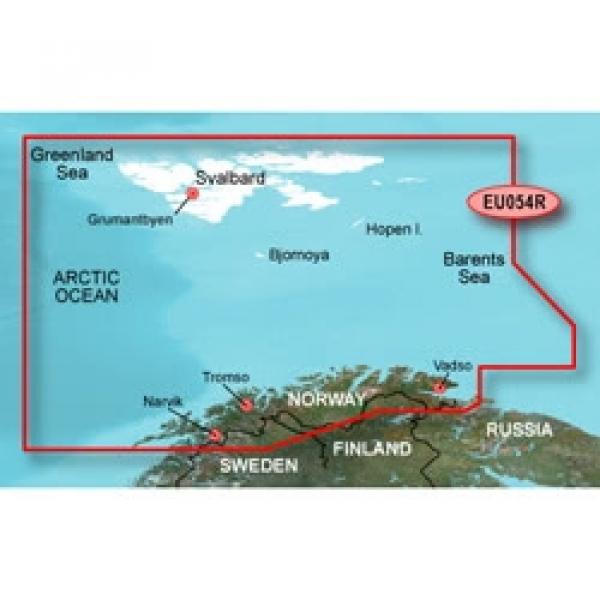 GARMIN MicroSD/SD Card: HXEU054R - Vestfjd-Svalbard-Varanger (010-C0790-20)