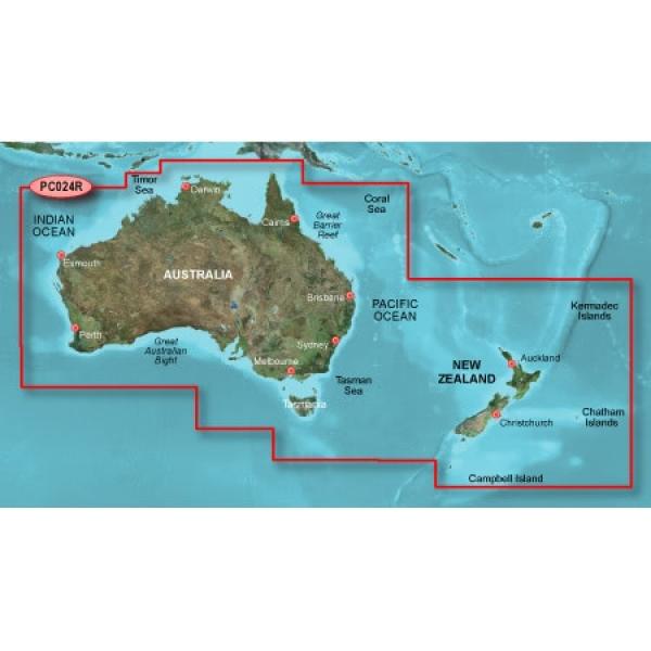 GARMIN MicroSD/SD Card: HXPC024R - Australia And New Zealand (010-C1020-20)