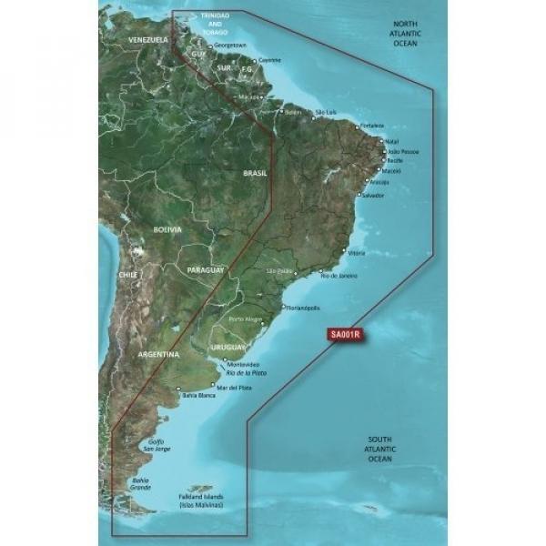 GARMIN MicroSD/SD Card: HXSA001R-South America East Coast (010-C1062-20)