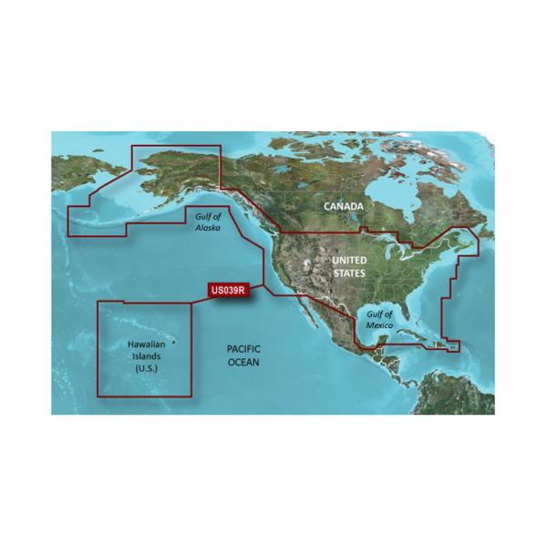 GARMIN MicroSD/SD Card: HXUS604X - US All & Canadian West Coast (010-C1018-20)